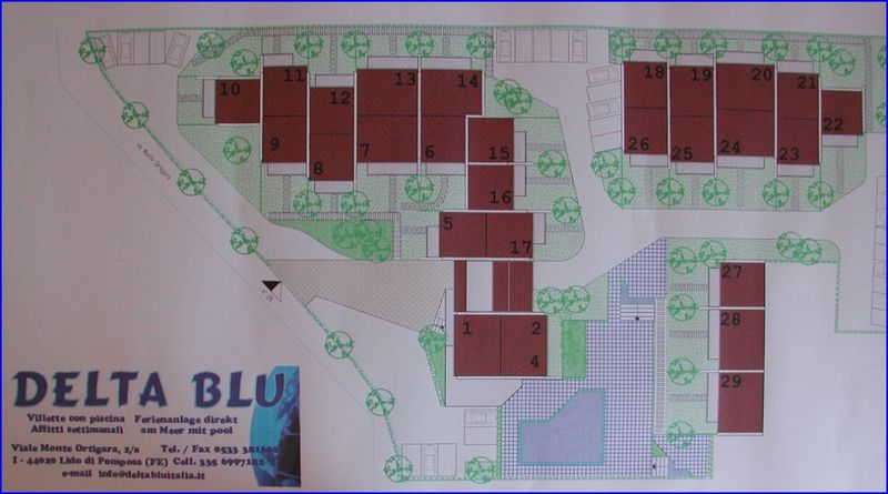 Map of the Cottage - Lido di Pomposa - Delta Blu Residence Village